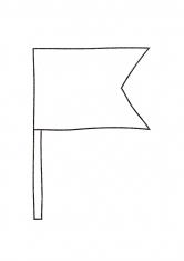 раскраска флажки на ниточке