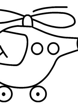 Раскраска Вертолет летит, скачать и распечатать раскраску ...