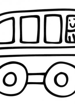 Раскраска Автобус с водителем, скачать и распечатать ...
