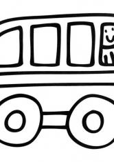 Раскраска Автобус с водителем