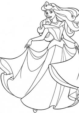 Раскраска Принцесса в шикарном платье, скачать и ...