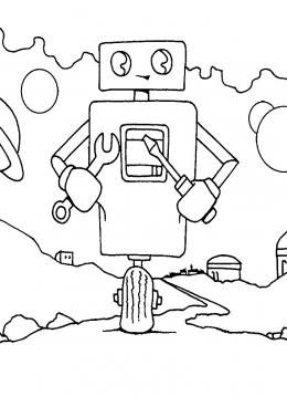 Раскраска Робот инженер, скачать и распечатать раскраску ...