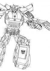 Раскраска Атака трансформеров