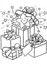 Подарок коробка раскраска