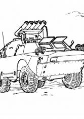 Раскраска Вооруженный БМП