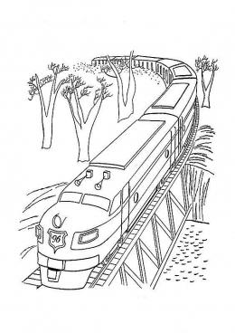Раскраски скоростного поезда