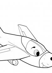 Раскраска Реактивный самолёт