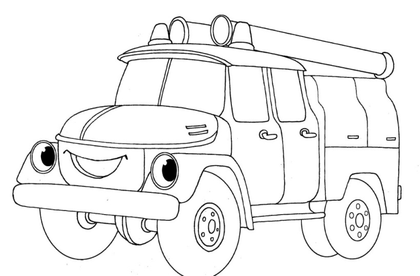 Раскраска пожарной машины бесплатно