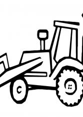 Раскраска Трактор экскаватор