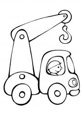 Раскраска Кран на колёсах