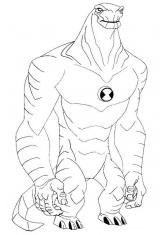Раскраска Монстр Бена 10