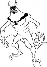Раскраска Монстр из Бен 10