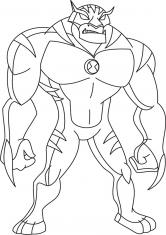 Раскраска Персонажи Бен 10