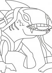 Раскраска Нападение монстров