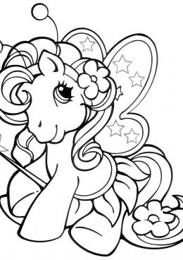Раскраска My Little Pony, скачать и распечатать раскраску ...