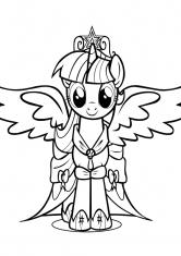 Раскраска Искорка-принцесса