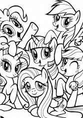 Раскраска Пони из сериала