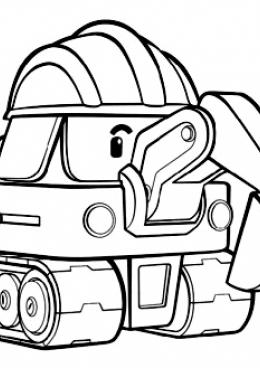 Раскраска дети из робокар поли