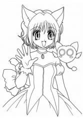 Раскраска Привет от Няши