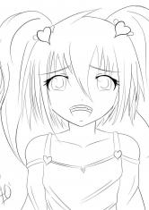 Раскраска Аниме персонаж