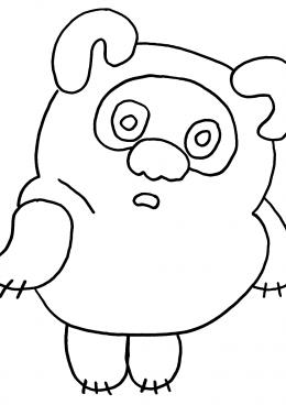 Раскраска Винни Пух для малышей, скачать и распечатать ...