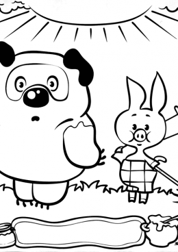 раскраски винни пух советские мультфильмы мультфильмы