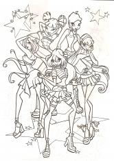 раскраски винкс зарубежные мультфильмы сказки аниме