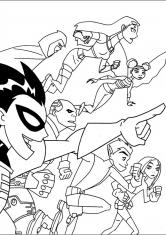 Раскраска Команда юных титанов