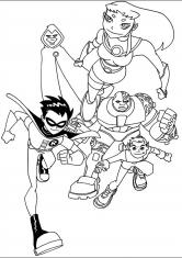 Раскраска Юные супергерои