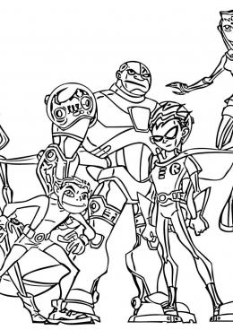 раскраски юные титаны зарубежные мультфильмы сказки