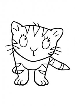 Раскраска Кошка маленькой принцессы, скачать и распечатать ...