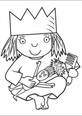 Раскраски маленькие принцессы распечатать