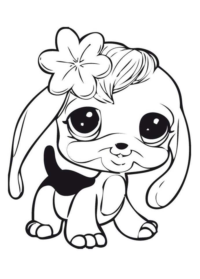 Раскраска маленького щенка