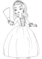 Раскраска Дочь короля Эмбер