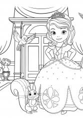 Раскраска София во дворце