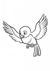 Раскраска Птичка Миа