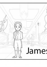 Раскраска Принц Джеймс