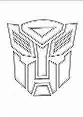 Раскраска Логотип трансформеры автоботы