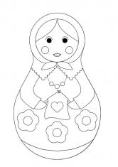Раскраска для малышей матрешка 181
