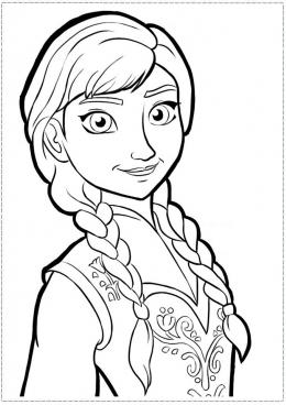 Раскраска Юная принцесса Анна, скачать и распечатать ...