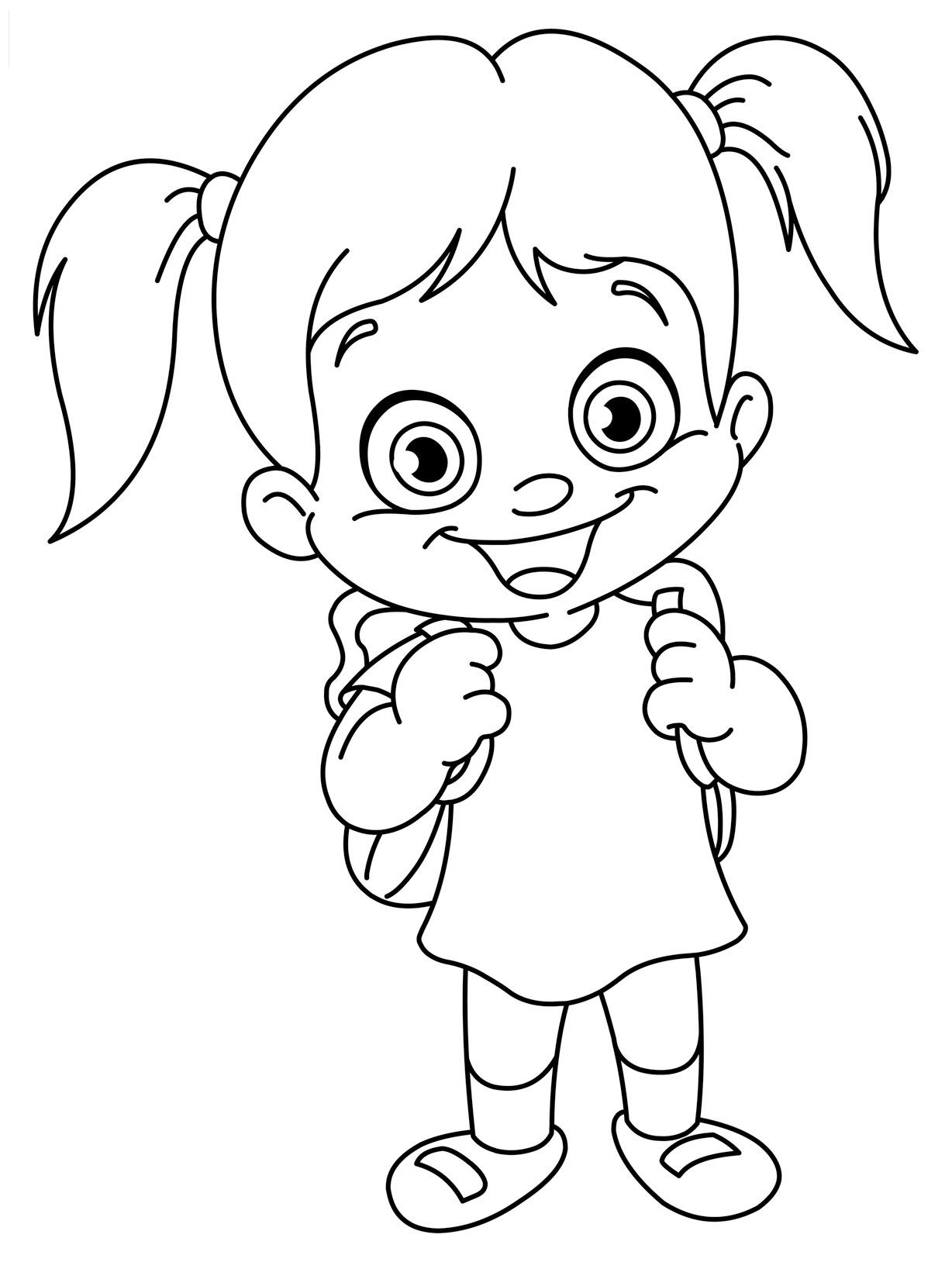 Раскраска девочка распечатать