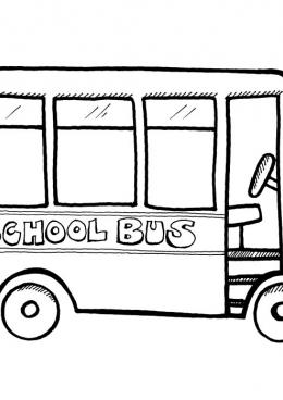 Раскраска Английский школьный автобус, скачать и ...