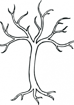 Раскраска Дерево без листьев, скачать и распечатать ...