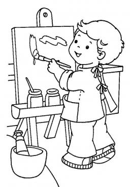 раскраска маленький художник скачать и распечатать
