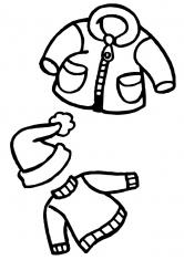 Раскраска Зимняя одежда для ребенка