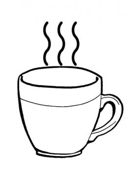 Раскраска чашки для чая