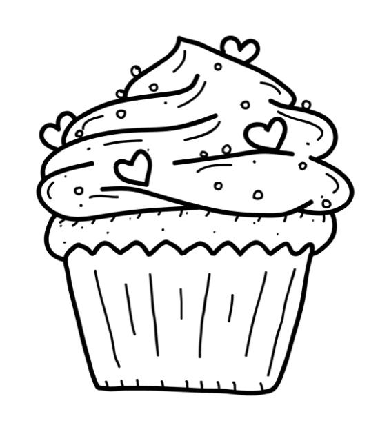 Пироженко раскраска