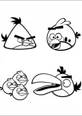 Птички трансформеры раскраски