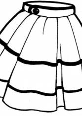 Раскраска Пышная юбка