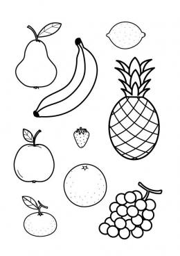 картинки раскраски фруктов